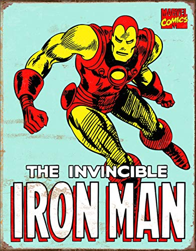 - Desperate Enterprises Marvel Iron Man Retro Tin Sign, 12.5