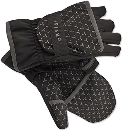 オービスソフトシェルFoldover指なし手袋: Mサイズ