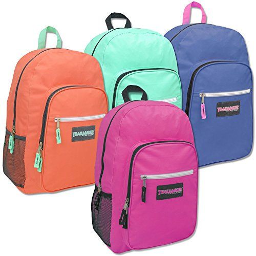 Deluxe 19 Inch Backpack - Girls Case Pack 24 by Trail maker