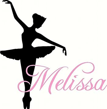 Dance Wall Decal Personalized Ballerina With Name For Baby Girl - Custom vinyl wall decals dance