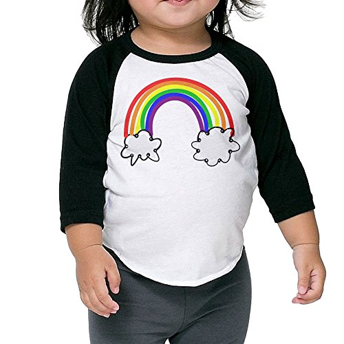 Dongsheng Free Rainbow Clipart Essential Children 3/4 Sleeve T-shirt Size4 (All Saints Day And Halloween Connection)