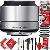 Sigma 19mm F2.8 EX DN Art Lens + 16GB 17PC Bundle For Sony E Mount DSLR Cameras A6500 A6300 A6000 A5100 Alpha a7 Alpha a7R II Alpha a7S II Alpha a7 II Alpha a7 III Alpha a7R III Alpha a9