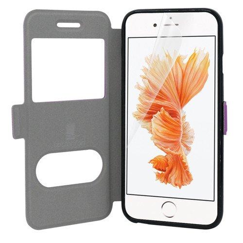 betterfon | Flipcover Handytasche Schutzhülle Case Buch Klapptasche Handyhülle Handy Schale + Gratis Displayschutzfolie für Apple iPhone 6 / 6s Lila