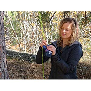 Selkirk Design Ultralight Food Bag Hanging System - Includes a Waterproof Odor Resistant Bear Bag, Pulley System with Paracord Nylon Ropes & Carabiners, Rock Sok, and Instructions