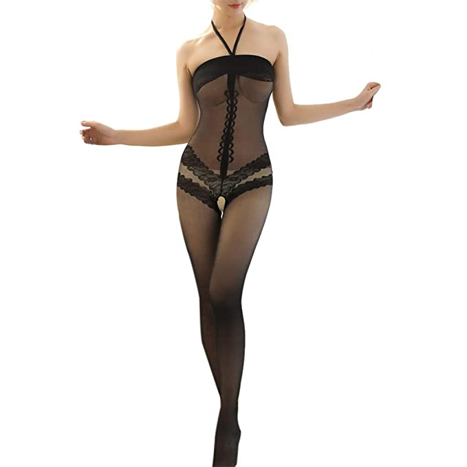 03595fc19 Sexy Seamless Fishnet Bodystocking Lace Lingerie Net Bodysuit Lingerie  Tight for Women Babydoll  Amazon.co.uk  Clothing