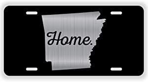 JMM Industries Arkansas Home State Vanity AK Vanity Novelty License Plate Tag Metal 6-Inches by 12-Inches Etched Aluminum UV Resistant ELP056