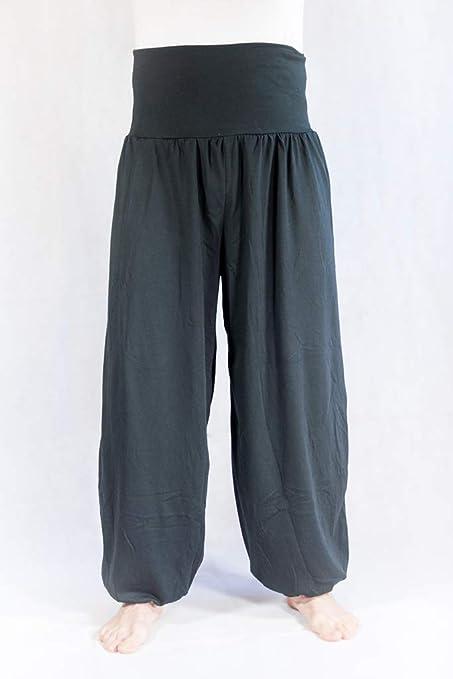 Savari Pantalones Bombachos Aladin Harem Yoga Comodos Anchos Holgados Unisex Negro Blanco Marino Gris
