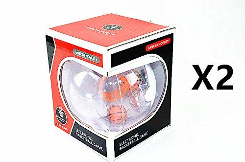 2 Pcs Electronic Handheld Basketball Game Fidget Toys 3D Mini Basketball Shooting Table Games w/ LED Flash & Sound By HNDtek (Table Pc Game Handheld)