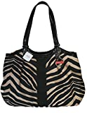 Coach Signature Stripe Zebra Print Devin Shoulder Bag 24022