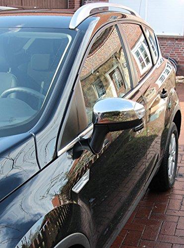 Ford S-Max + Kuga I 2008 - 2012 cromo espejo tapas de acero inoxidable pulido: Amazon.es: Coche y moto