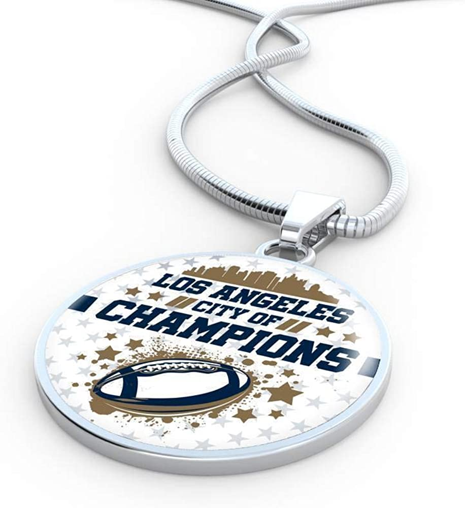 Express Your Love Gifts Los Angeles City of Champions Circle Pendant Necklace