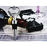 Unique Heart Wine Stopper and Bottle Opener - 72 Pieces
