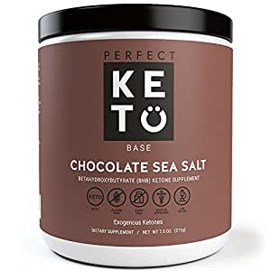 Perfect Keto Chocolate Exogenous Ketones- Base BHB Salts Supplement- Ketones for Ketogenic Diet Best to Burn Fat to Support Energy, Focus and Ketosis Beta-Hydroxybutyrate BHB Salt Powder