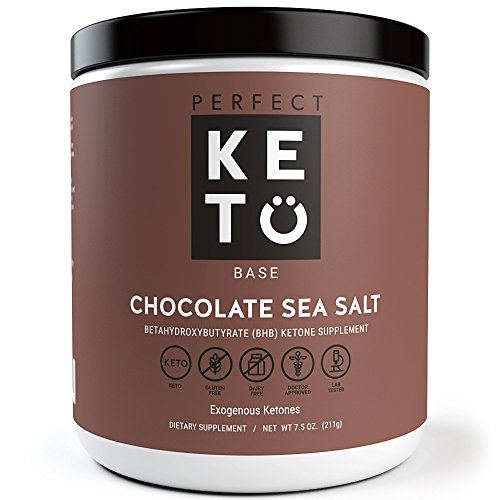Perfect Keto Exogenous Ketones Supplement- Base BHB Salts Keto Chocolate Sea Salt Flavor- Ketones for Ketogenic Diet Best to Burn Fat to Support Energy, Focus and Ketosis Beta-Hydroxybutyrate BHB Salt
