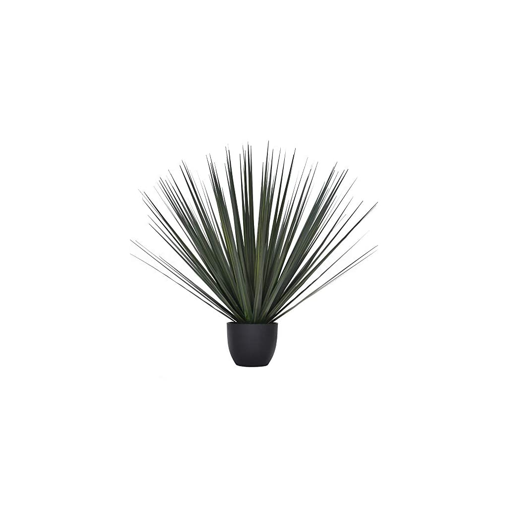 Luxsego Artificial Greenery Plants with Pot, 23.2 Inches Artificial Gladiolus Plants, Faux Plastic Greenery Shrubs for Room, Garden, Office, Wedding, Store Decoration Indoor and Outdoor