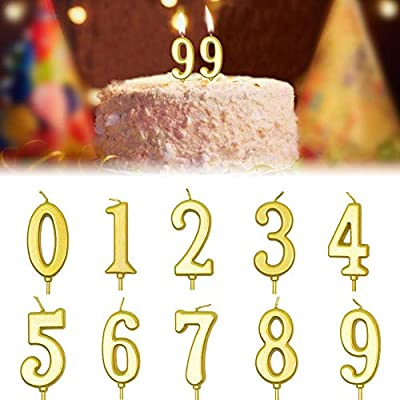 Surprising Biteatey 10 Pieces Birthday Cake Candle 0 9 Number Candles Non Birthday Cards Printable Giouspongecafe Filternl