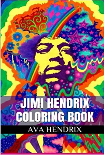 Jimi Hendrix Coloring Book: Antistress and Electric Church Adult ...