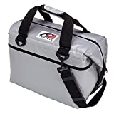 AO Coolers Water-Resistant Vinyl Soft Cooler with High-Density Insulation, Silver, 24-Can For Sale