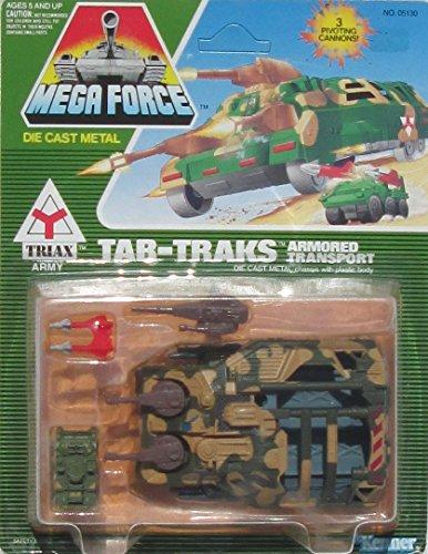 1989 Kenner Mega Force TRIAX Army Tar-Treks Armored Transport W/Rocket Launcher Micro Vehicle Set