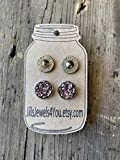 Bullet Jewelry Earrings Set of 2, 38 Special Bullet Earrings and Rose Gold Druzy