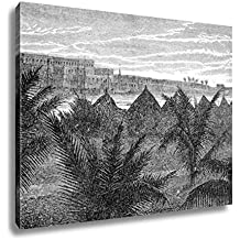 Ashley Canvas Hospital Of St Louis Seen From Guetndar Vintage Engraved Illustration Le Tour, Home Office, Ready to Hang, Black/White 20x25, AG6546028