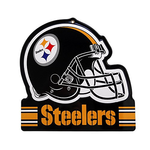 - Party Animal Pittsburgh Steelers Embossed Metal NFL Helmet Sign, 8