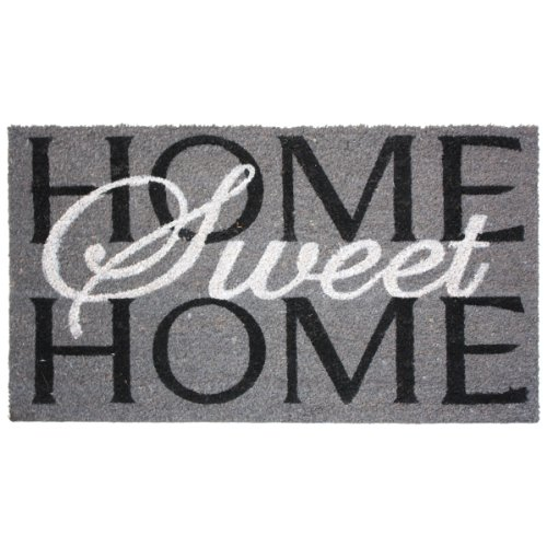 J & M Home Fashions Home Sweet Home Vinyl Back Coco Doormat,