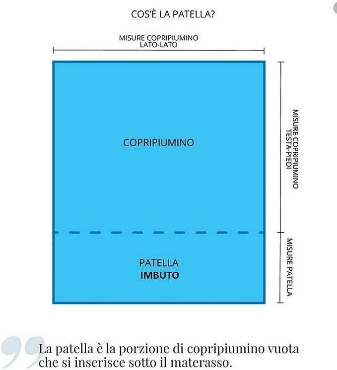 Patella Copripiumino Cose.Mauro Copripiumino Matrimoniale 100 Cotone In Stampa Digitale Di