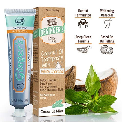 Toothpaste White Charcoal | Extra | 100% Fluoride Healthy Gums Great Coconut Taste