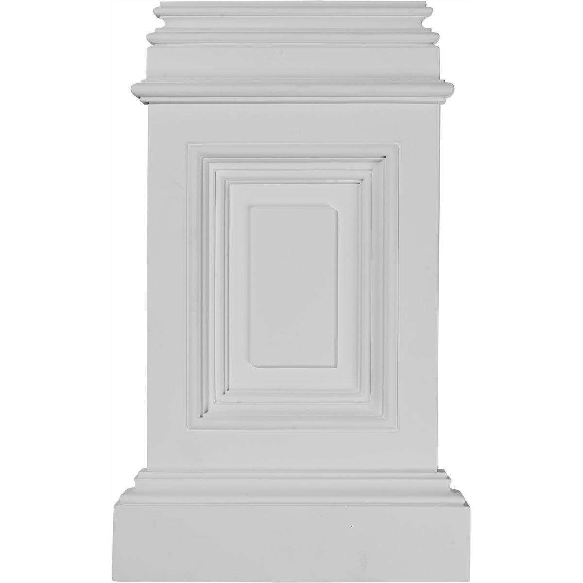 Ekena Millwork BAS10X17X02CL  10 7//8-Inch W x 2 1//4-Inch D x 17 3//4-Inch H Classic Small Pedestal Base