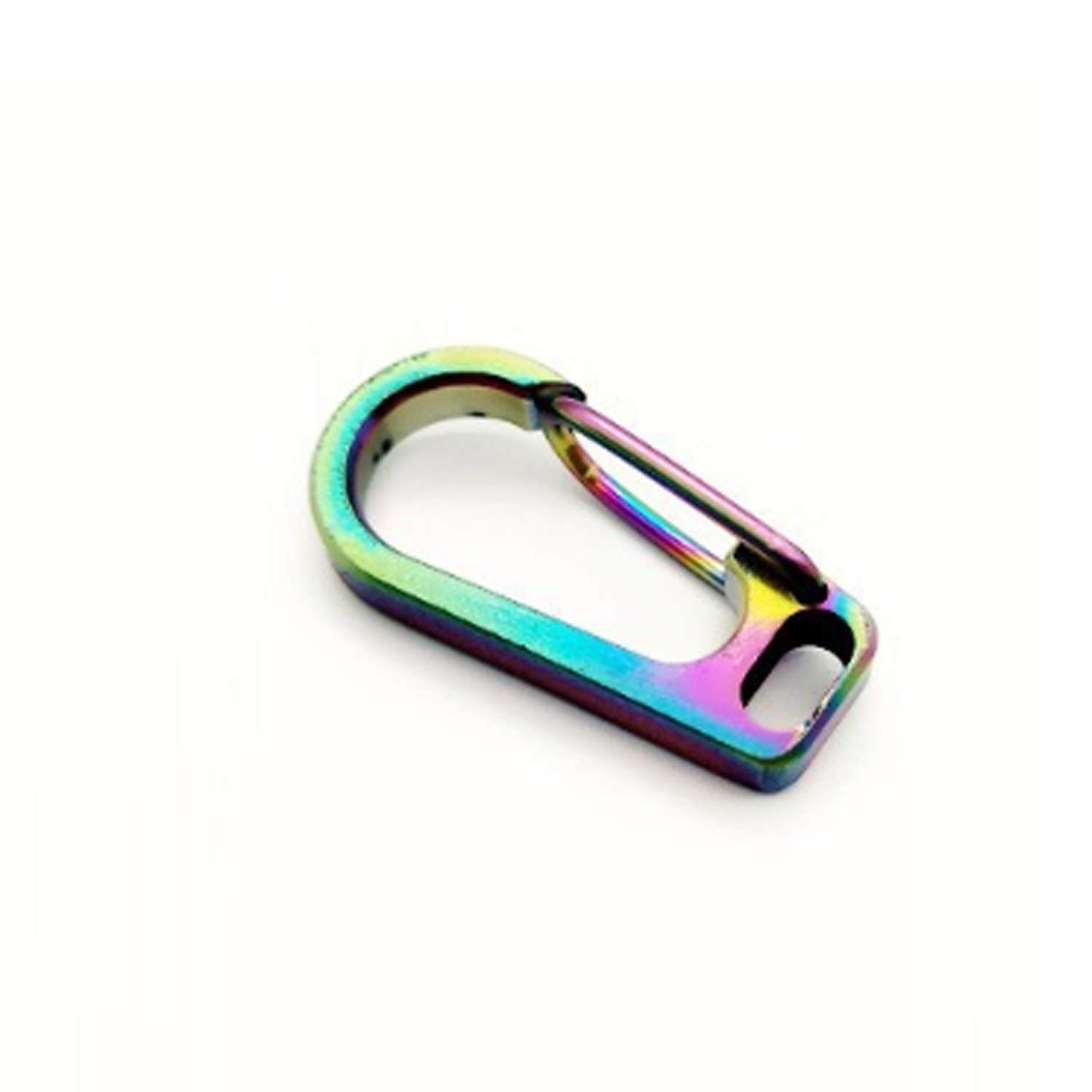 Your only family Practical Lightweight Keychain Titanium Alloy Flat Hole Buckle Corrosion Resistant Durable (Color : B)