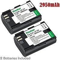 Kastar Battery (2-Pack) for Canon LP-E6, LP-E6N, LC-E6 and EOS 60D, EOS 70D, EOS 5D II, EOS 5D III, EOS 5DS, EOS 5DS R, EOS 6D, EOS 7D Cameras, BG-E14, BG-E13, BG-E11, BG-E9, BG-E7, BG-E6 Grips