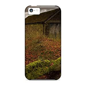 Anti-scratch And Shatterproof Stone Cabin In The Countryside Phone Case For Iphone 5c/ High Quality Tpu Case