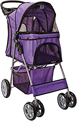 Paws & Pals City Walk N Stride 4 Wheeler Pet Stroller for Dogs and Cats by Paws Pals