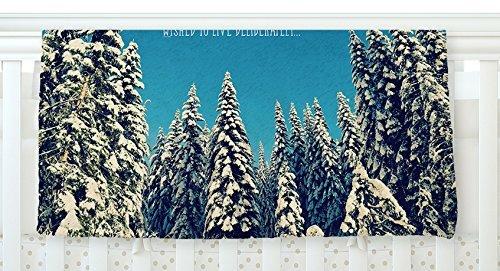 KESS InHouse Robin Dickinson I Went to the Woods Blue White Fleece Baby Blanket 40 x 30 [並行輸入品]   B077Z35XVX