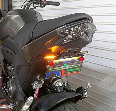 Amber Turn Signals Kawasaki Z125 Pro SS LED Fender Eliminator Kit Smoked Lens