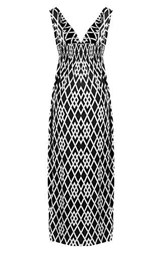 G2 Chic Women's Summer Tribal Printed Maxi Dress(DRS-MAX,BLKA6-XL)