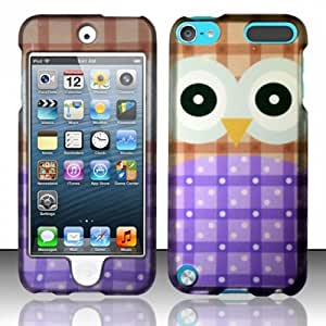 Snap on Cover Fits Apple Touch 5th Generation Big Eyes Owl Purple (does NOT fit iPod Touch 1st, 2nd, 3rd or 4th generations)