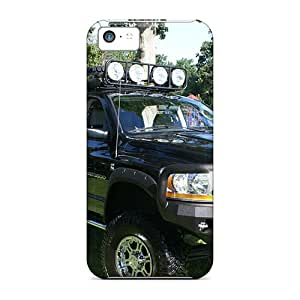 New Snap-on ChrisArnold Skin Cases Covers Compatible With Iphone 5c- Dodge 6x6 Mega Cab