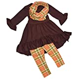 Unique Baby Girls 3 Piece Fall Colors Thanksgiving Legging Set (8)