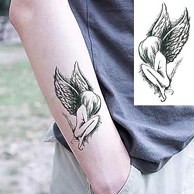 tzxdbh Pegatinas de Tatuaje Temporal a Prueba de Agua Alas de ...