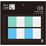miccudo ミクド [here i am シリーズ 08] ミニブック付箋 グリーン&ブルー (おしゃれ文房具/かわいい ふせん) ノート デザイン付箋 ステッカー