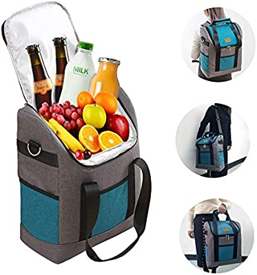 cfaa31767b8b Cooler Backpack Insulated Large Collapsible - Waterproof Portable Cold Beer  Cooler Backpack for Men Women, Ice Chest Backpack Cooler for Camping ...