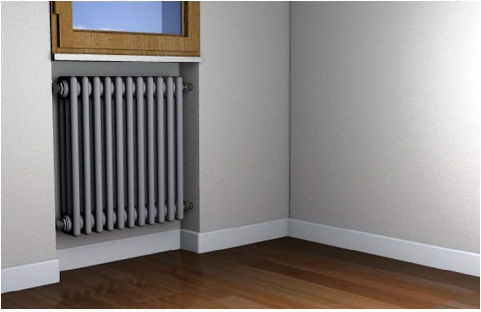 Radiatore Tubolari,per Pieni e Semipieni 2 staffe per confezione,501108 Fischer TF 8//105 Mensola per Termosifone
