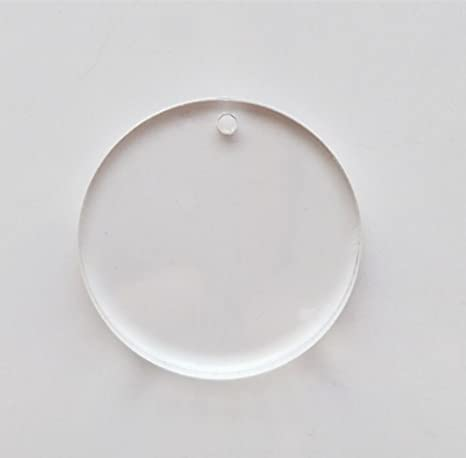 MEYA Set of 15pcs High Clear Blank Acrylic Discs ,Acrylic Round Sheet With Hole 1/8