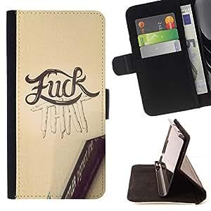 Momo Phone Case / Flip Funda de Cuero Case Cover - F Questo testo Yellow Pencil Sketch Word - HTC Desire 820