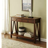 Titian Wood Console Table- Antique Tobacco