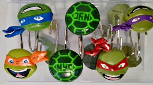 Teenage Mutant Ninja Turtles Shower Curtain Hooks
