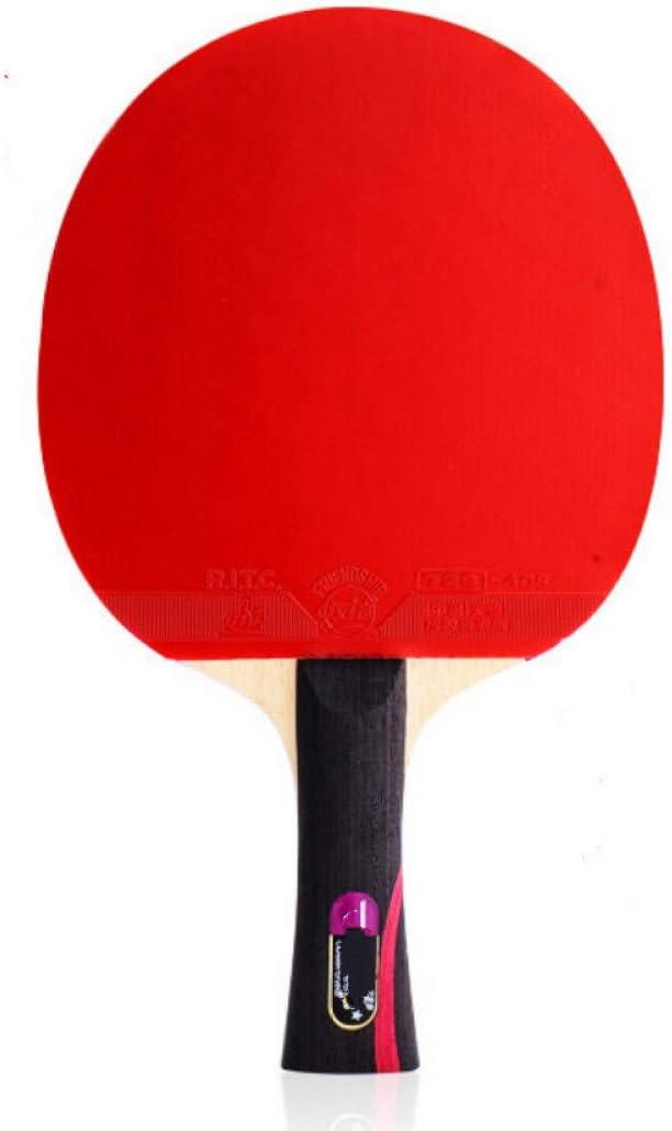 NANZHU Ping Pong Ping-Pong Mesa Pala Raqueta De Raqueta De Tenis De Mesa Raqueta Simple Raqueta Cruzada Especial Solo para Personas Enviar Solo 10 Pelotas