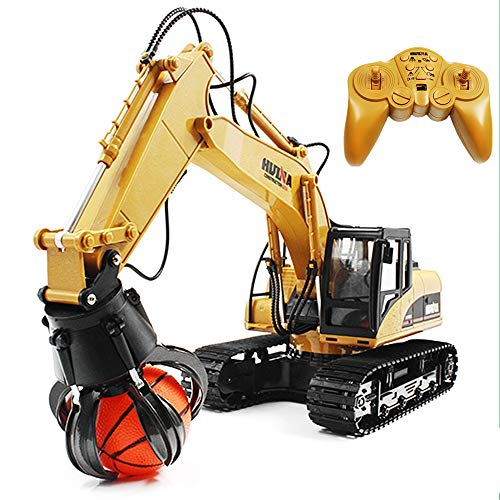 1:14 RC Remote 2.4Ghz Alloy 16 Channel Timber Grab Loader Crawler Full-Function Simulation Material Handler Gripper Engineer Construction Machine, Radio Control R/C RTR Toys Gift Birthday Christmas -